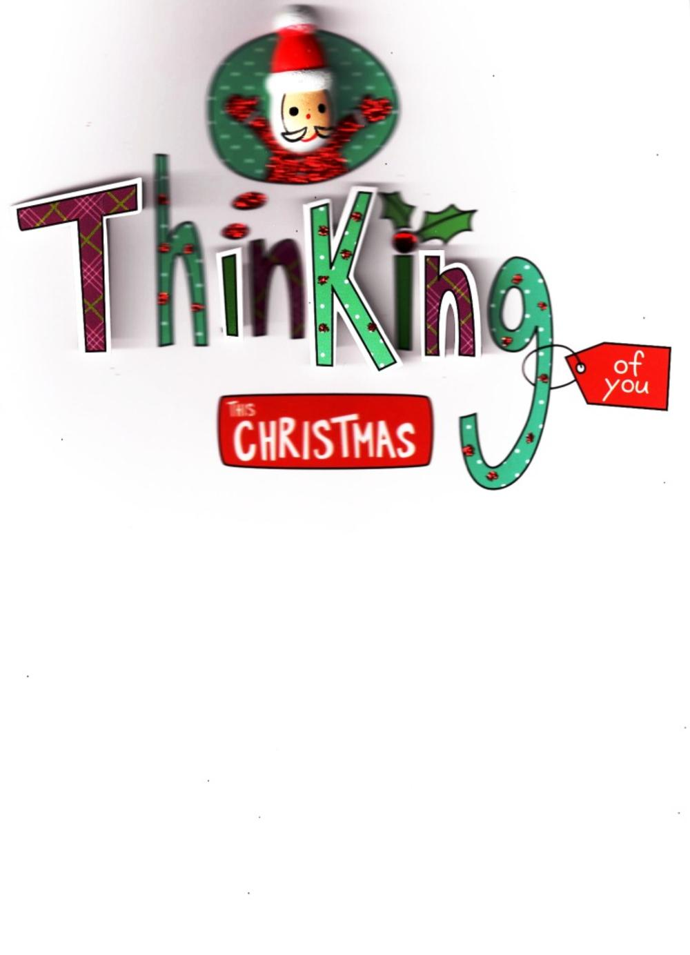 Thinking of You Lovely Embellished Christmas Greeting Card