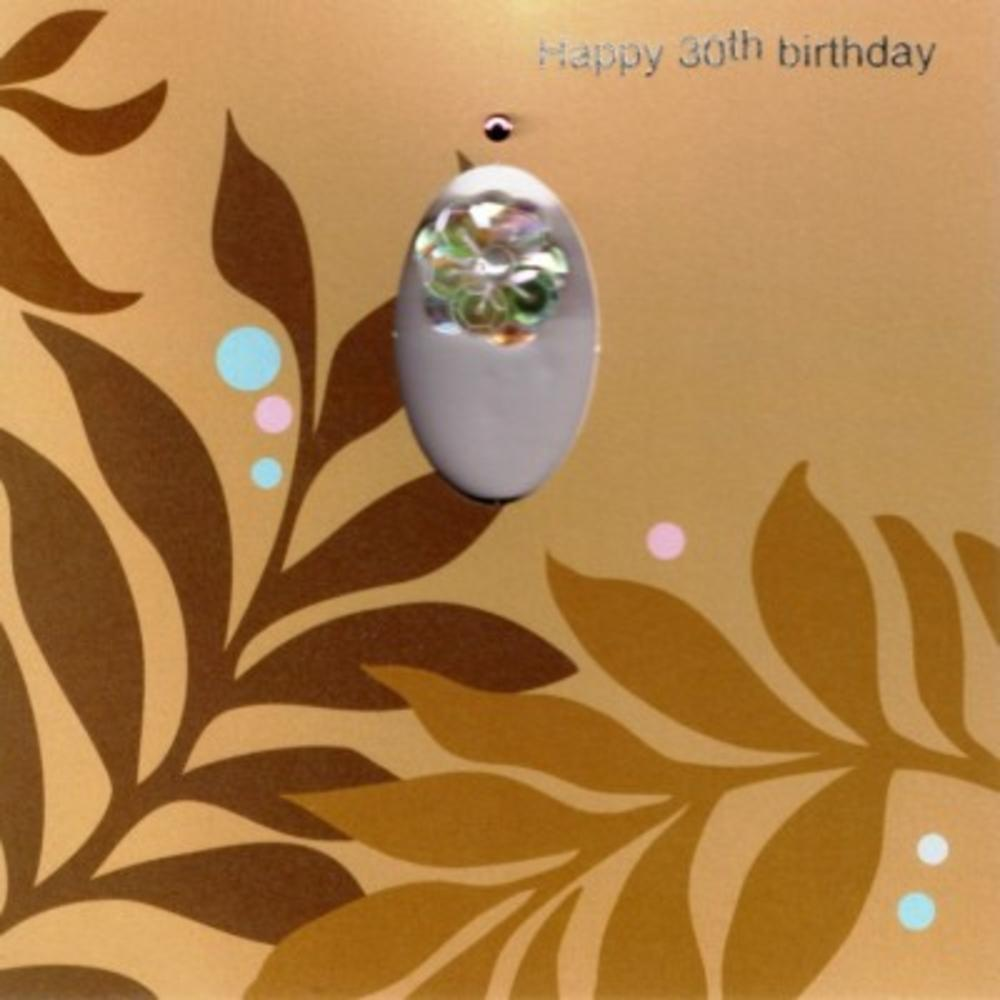 Handmade  Flower 30th Female Birthday Card