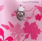 Handmade 21st Female Birthday Card