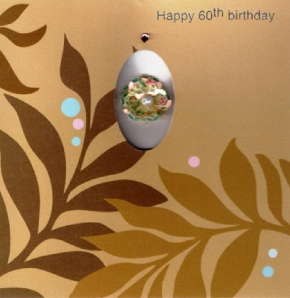 Handmade 60th Female Birthday Card