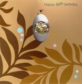 Handmade 60th Female Birthday Card