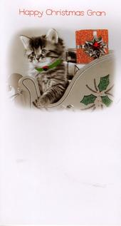 Gran Luxury 3D Glitter Xmas Happy Christmas Card