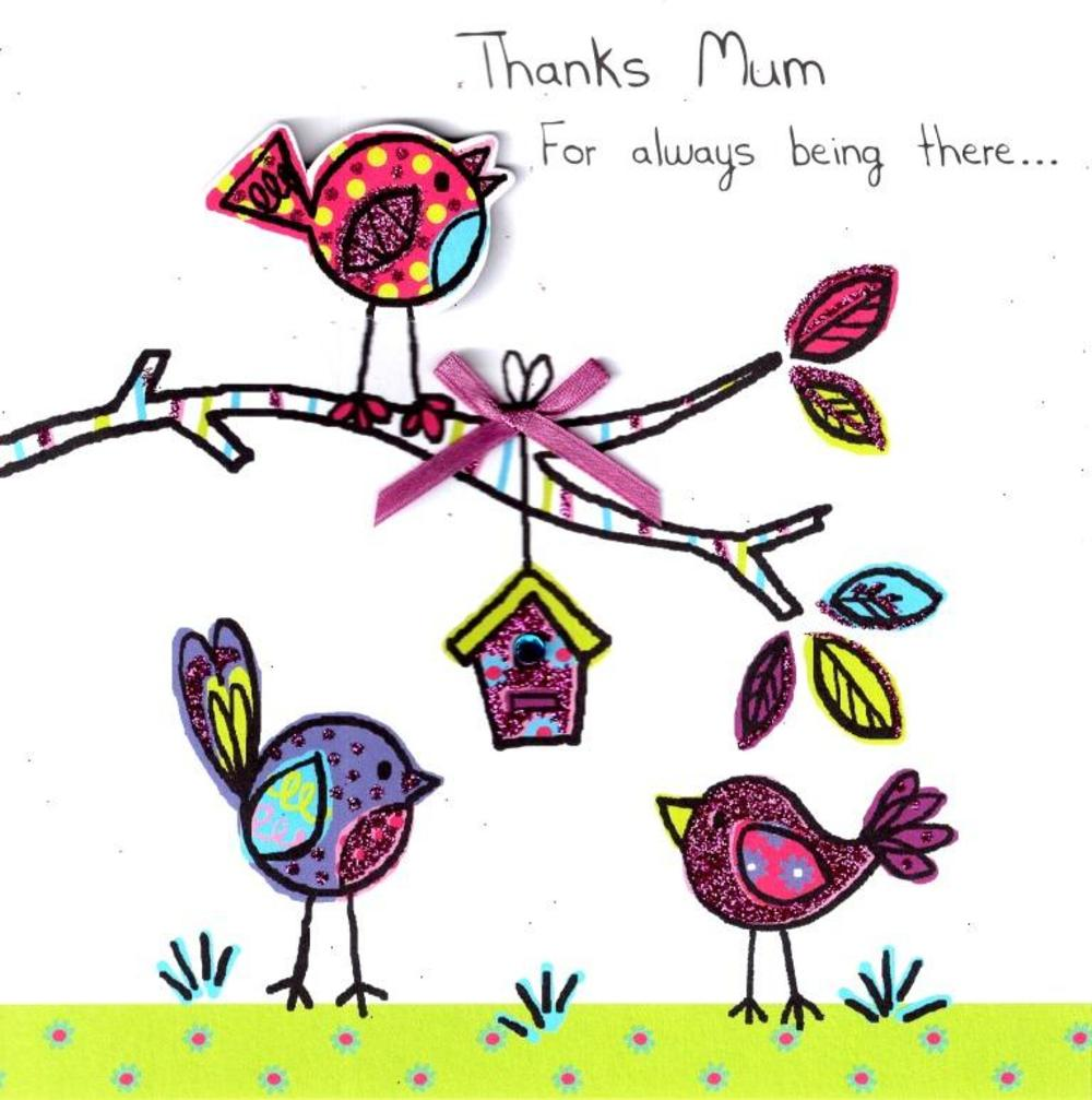 Thanks Mum Hand-Finished Mother's Day Card | Cards | Love