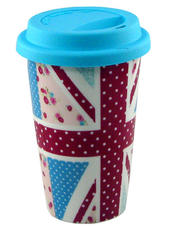 Union Jack Floral Travel Mug