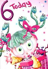 Special Age Girl 6th Birthday Card