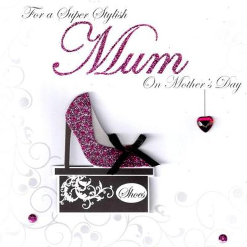 Hand-Finished 3D Stylish Mum Mother's Day Card