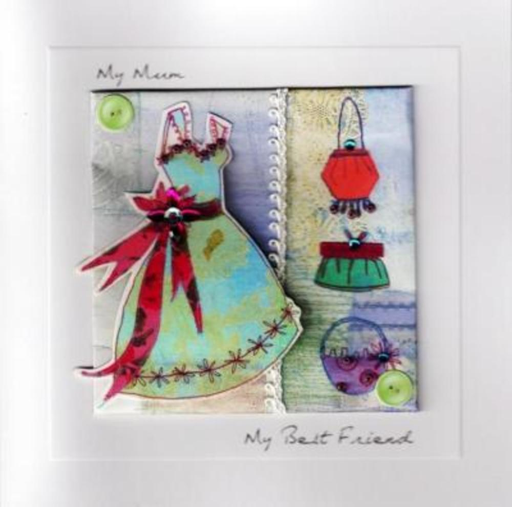 Handcrafted Mother's Day Cards Mum My Best Friend Card
