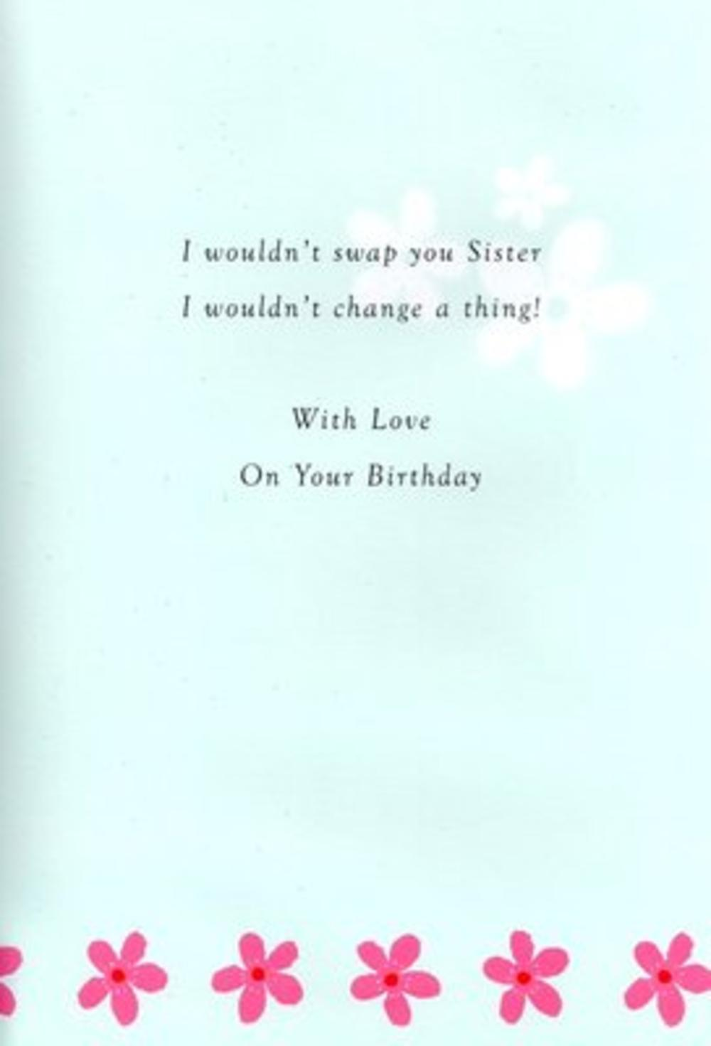 sister birthday poetry in motion card cards love kates