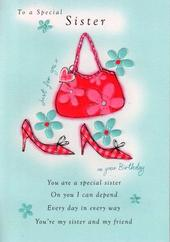 Sister Birthday Poetry In Motion Card