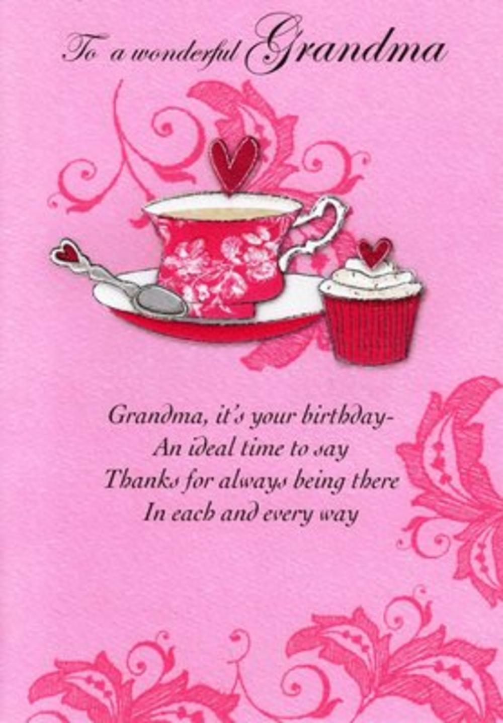 Grandma Birthday Poetry In Motion Card