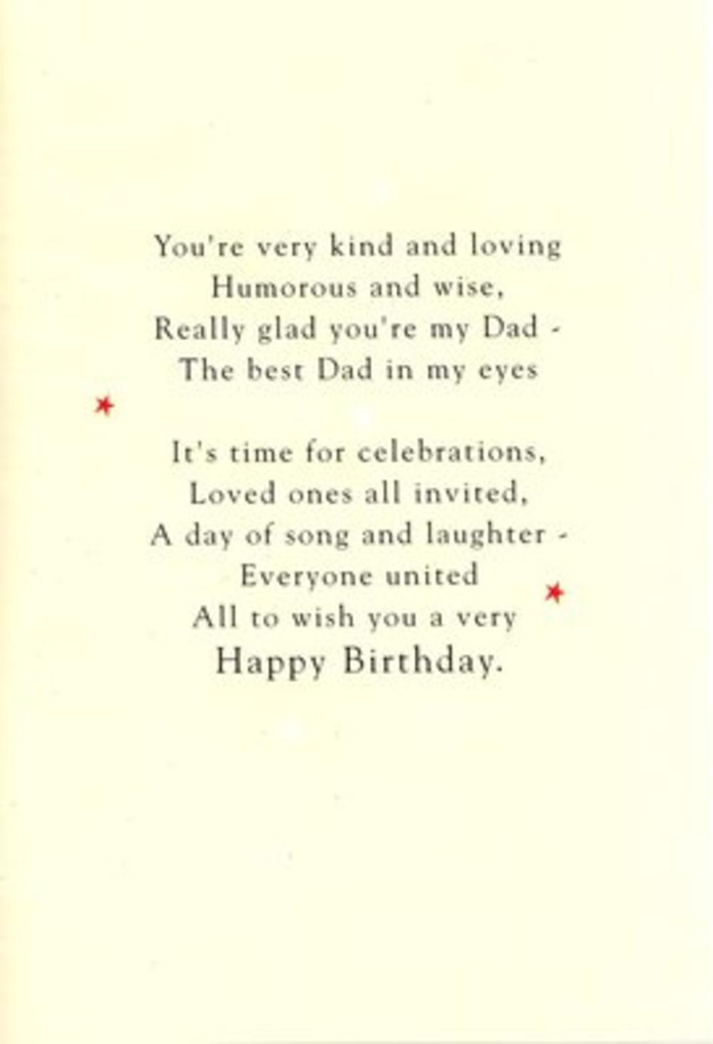 Dad Birthday Poetry In Motion Card Cards Love Kates