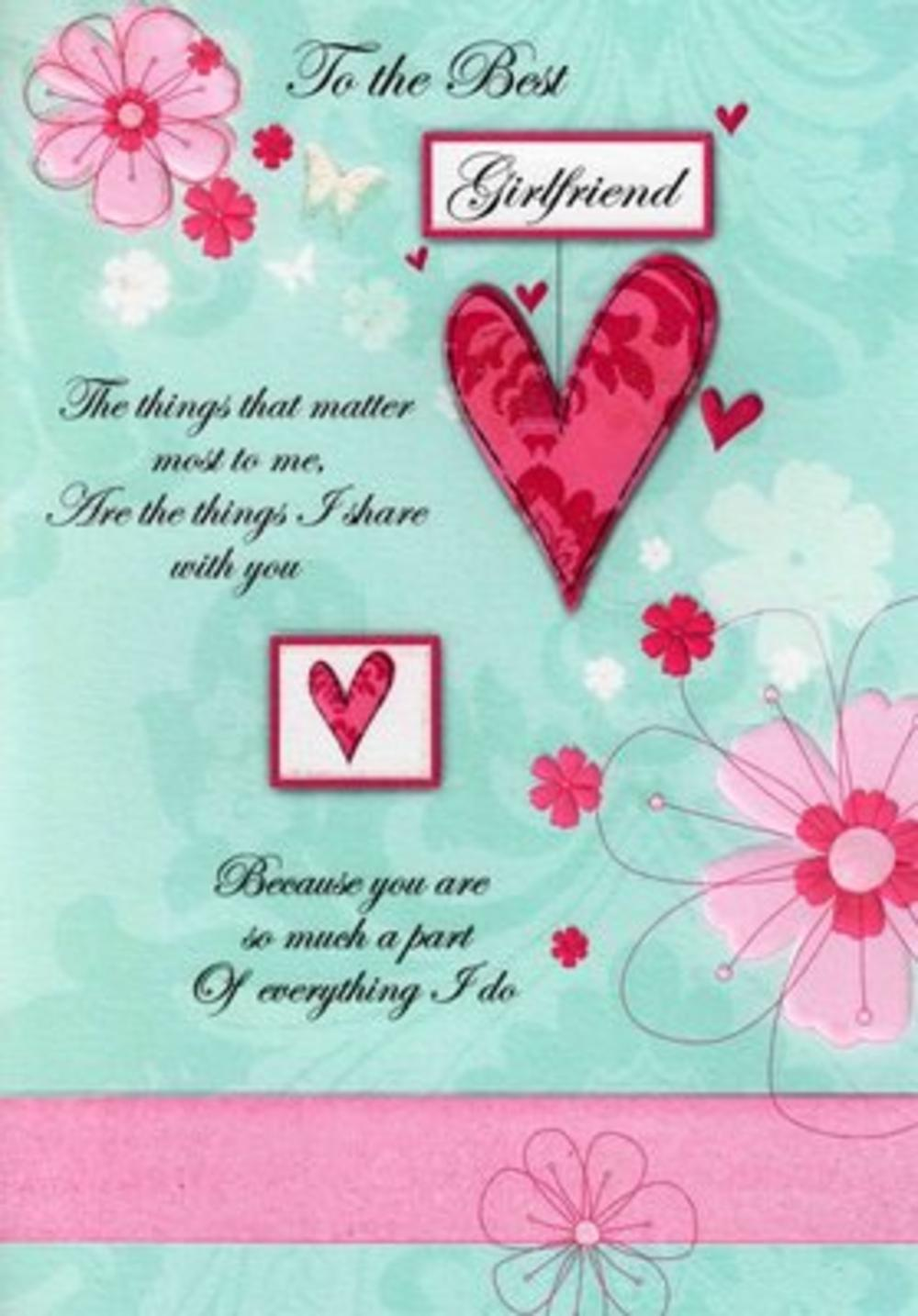 Girlfriend Birthday Poetry In Motion Card Cards Love Kates