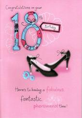 Female 18th Birthday Poetry In Motion Card
