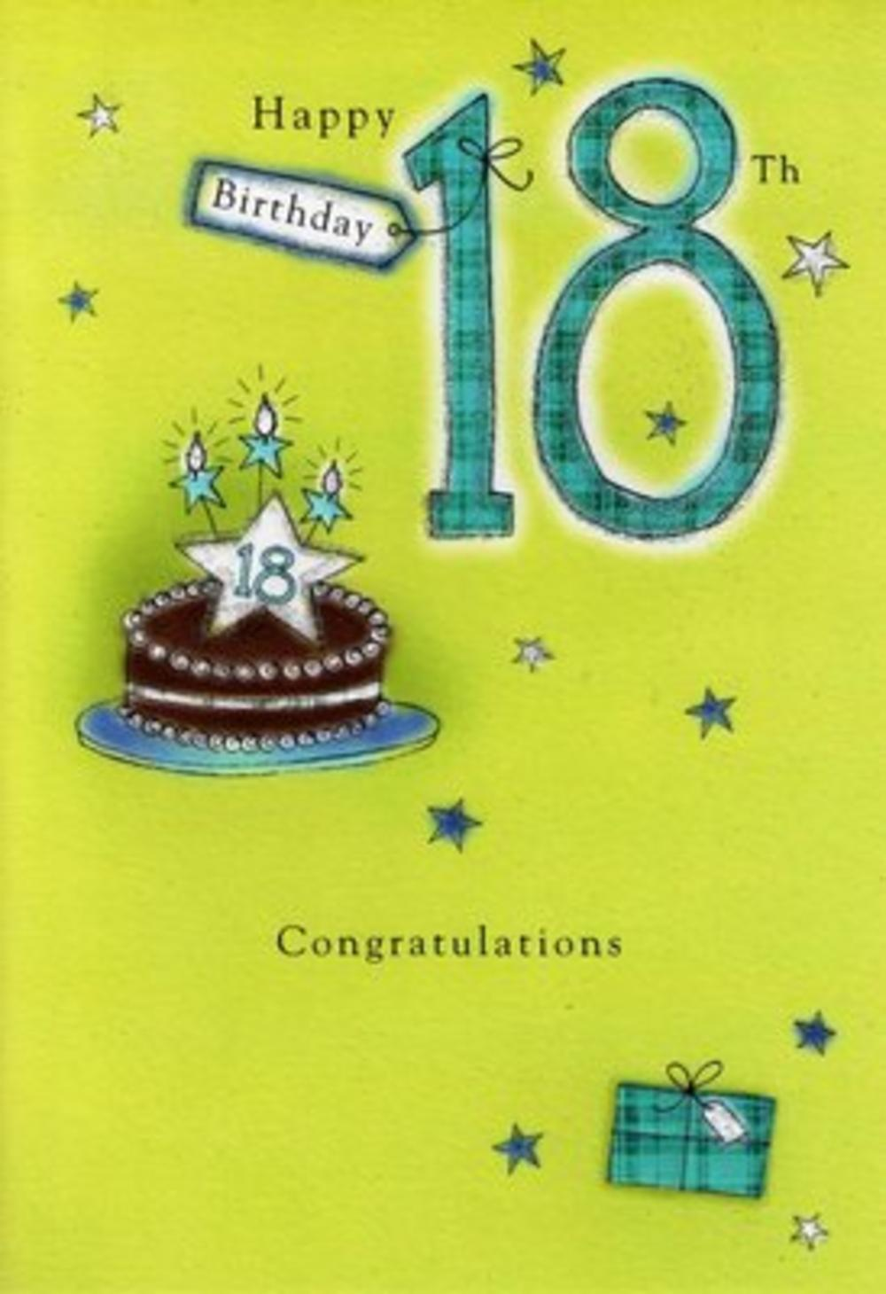 Male 18th Birthday Poetry In Motion Card Cards – 18th Birthday Card Verses