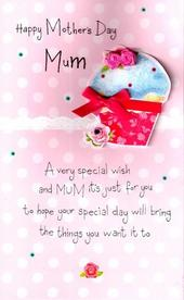 Luxury Cupcake Hand-Finished 3D Happy Mother's Day Card