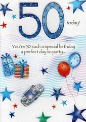 Male 50th Birthday Poetry In Motion Card