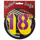 18th Birthday Jumbo Flashing Party Badge