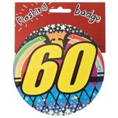60th Birthday Jumbo Flashing Party Badge