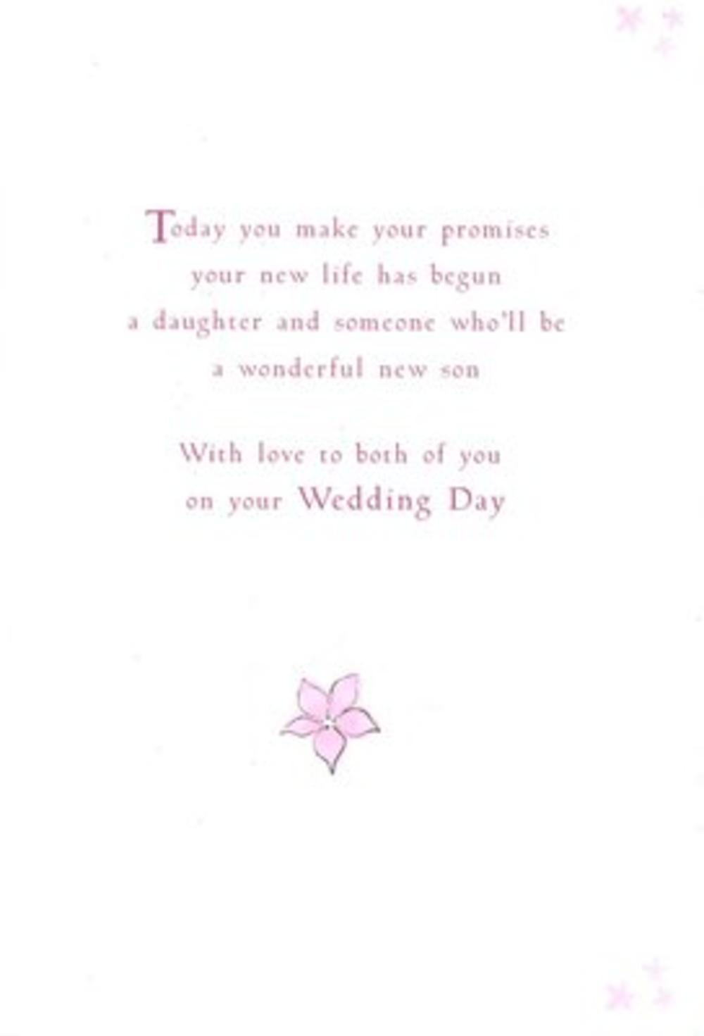 Daughter Husband Wedding Day Poetry In Motion Card Cards
