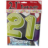 21st Birthday Foil Party Banner