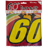 60th Birthday Foil Party Banner