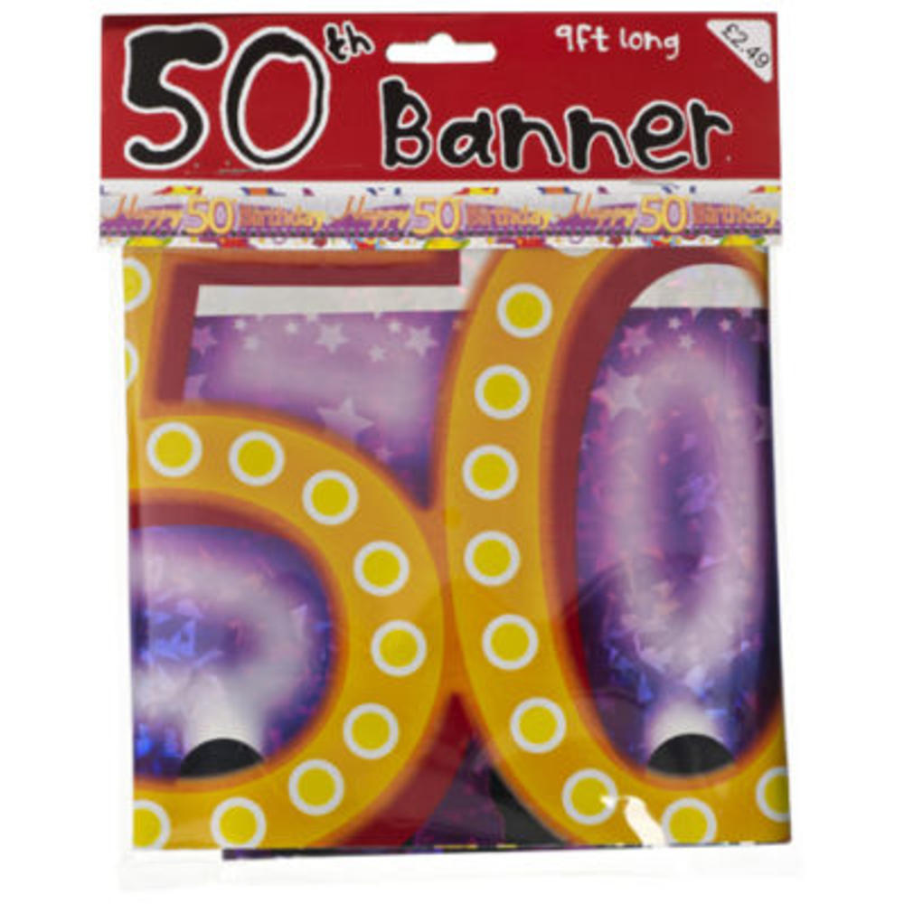 50th Birthday Foil Party Banner