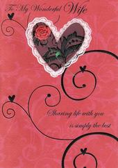 Wife Poetry In Motion Anniversary Card