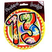 13th Birthday Jumbo Flashing Party Badge