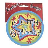 It's My Birthday Flashing Badge Big Light Up Party Badges Birthdays