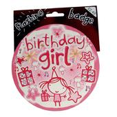 Birthday Girl Jumbo Flashing Party Badge
