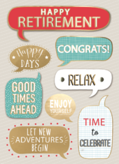 Good Times Ahead Relax Embellished Retirement Greeting Card