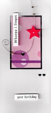 Belated Forgot Birthday Greeting Card