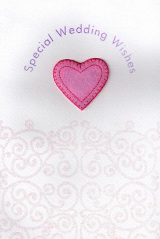 Handmade Weddings Wishes Wedding Day Card