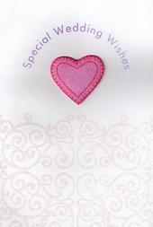 Handmade Weddings Wishes Wedding Day Card