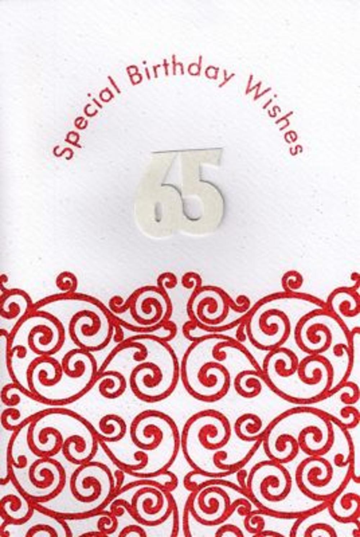 Handmade Happy 65th Birthday Card