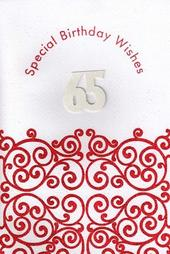 Handmade Happy 65th Birthday Card