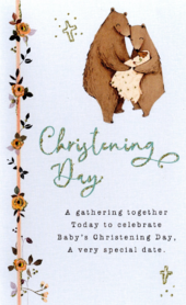 A Very Special Date Embellished Christening Greeting Card