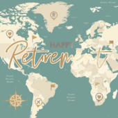 Happy Retirement Congratulations Gold Foiled Retirement Greeting Card