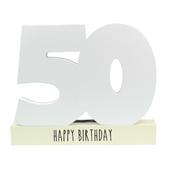 Age 50 Signature Block 50th Birthday Pen Included