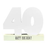 Age 40 Signature Block 40th Birthday Pen Included