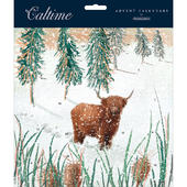 Let It Snow Highland Cattle Traditional Caltime Christmas Advent Calendar