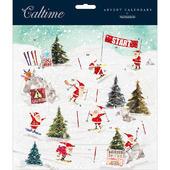 Snowy Skiing Santa Traditional Caltime Christmas Advent Calendar
