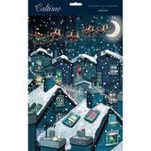 Santa's Sleigh Over Snowy Rooftops Caltime Christmas Advent Calendar