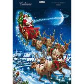 Santa & His Sleigh Pulled By Reindeer Caltime Christmas Advent Calendar