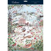 Snowy Xmas Scene With Animals Folicking Caltime Christmas Advent Calendar