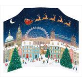 Xmas Eve Santa Flying In His Sleigh  Caltime Christmas Advent Calendar