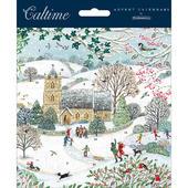 Winter Snowy Church Advent Calendar Christmas Card