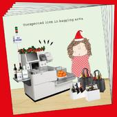 Box Of 8 Rosie Made A Thing Bagging Area Funny Christmas Cards