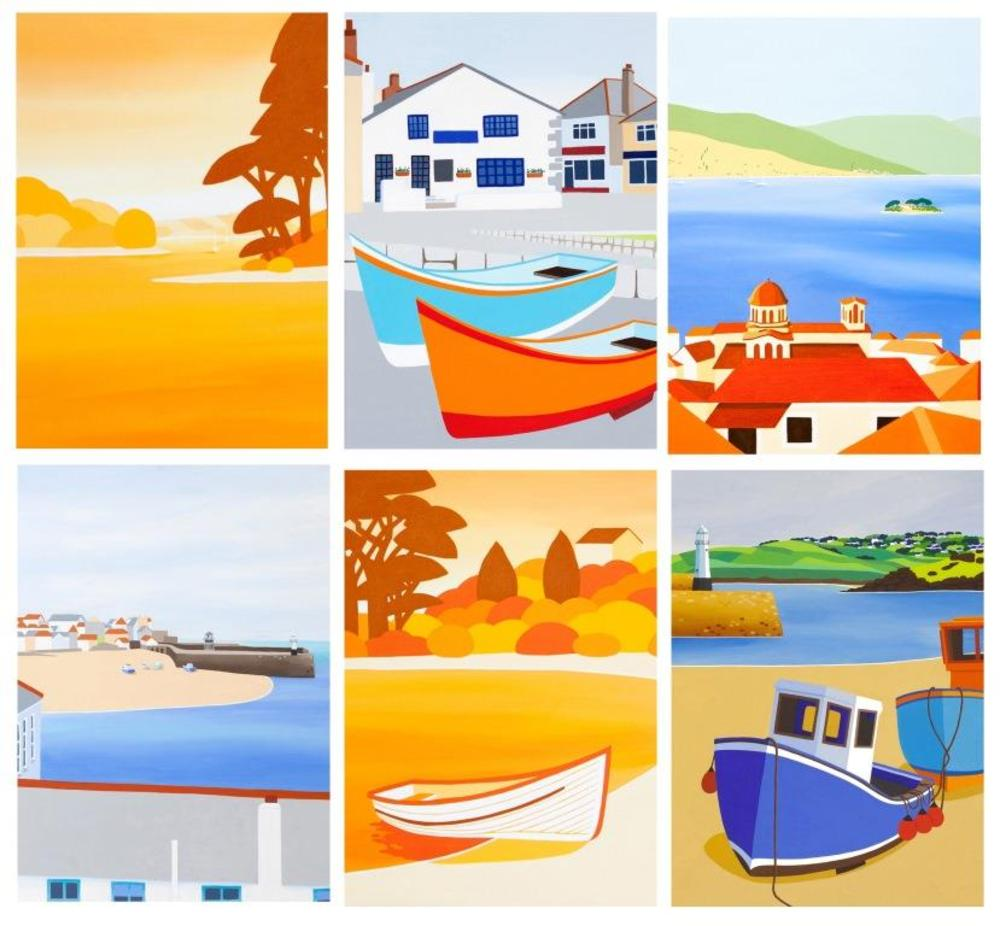 Pack of 6 Innocent Art Blank Greeting Cards Cornish Artist