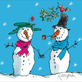 Pack of 5 Quentin Blake Snowman Charity Christmas Cards